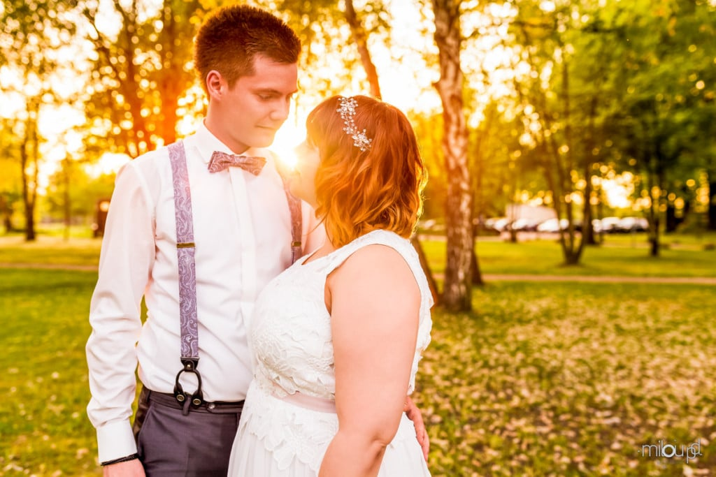 Brautpaarshooting mit Sonnenuntergang Janek und Denise - Hochzeitsfotografie - Hochzeit